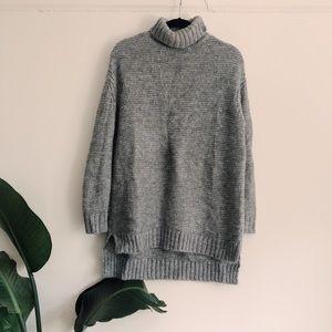 Cozy Zara Grey Knit Sweater